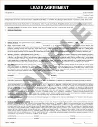 Generic Lease Agreement 24 Sample Lease Agreement Printable Receipt 10