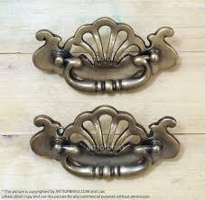 Antique Cabinet Pulls 480 2 Pcs Vintage Victorian Crown Solid Brass Cabinet Drawer