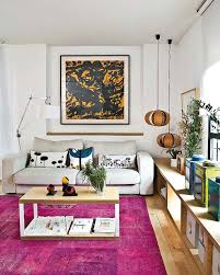 thinking outside the box how to decorate with overdyed rugs pink rugs for living room