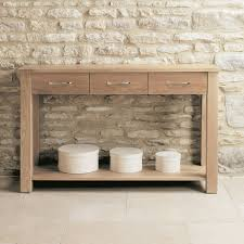 mobel solid oak console. Mobel Solid Oak Modern Console Table 3 Drawers H