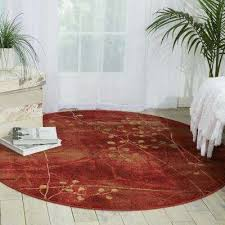 somerset flame 6 ft x 6 ft round area rug