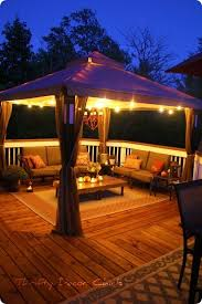 pool deck lighting ideas. thinking about replacing our pool deck table umbrella for a gazebo canopyi lighting ideas