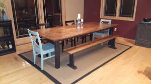 Distressed Black Kitchen Table Red Oak Top Dining Table Black Distressed Base Tabula Rasa