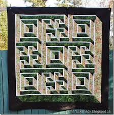 Tamarack Shack: Labyrinth Walk Quilt & It's been very windy here to glad I had a helper home to hold the quilt for  me to get a full picture. Adamdwight.com