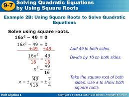solving quadratic equations using square roots example 2b 3a solve print wonderful