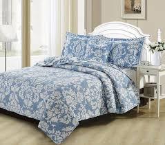 dada bedding collection elegant enchanted breeze quilt patchwork blue damask duvet cover