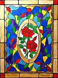 stained glass painting art artist painting stained glass roses art faux stained glass paint supplies