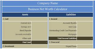 Company S Net Worth Download Free Financial Analysis Templates In Excel