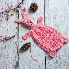 Loom Knitting Patterns Cool Loom Knit Bunny Lovey Pattern Bunny Blanket Toy PDF PATTERN This