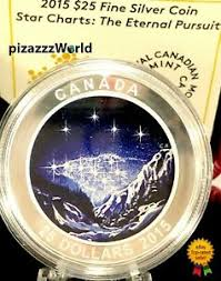 Details About 2015 Canada Star Charts The Eternal Pursuit Glow In Dark Color 25 Silver Coin