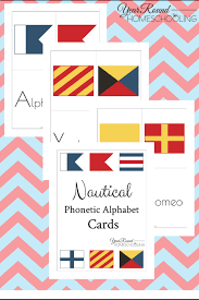 Learn vocabulary, terms and more with flashcards, games and other study tools. Nautical Phonetic Alphabet Cards Year Round Homeschooling