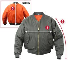 Rothco Ma 1 Flight Jacket Size Chart