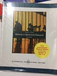 Research Design And Methods 10th Edition Methods In Behavioral Research 10th Edition By Paul C Cosby