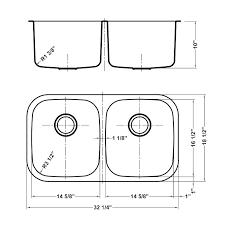 double sink kitchen dimensions mall dimenion double bowl kitchen sink cutout size