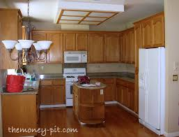 Painting Oak Kitchen Cabinets White Impressive My New Kitchen Island Staining Oak Cabinets The Kim Six Fix