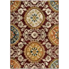 oriental weavers sedona 6366a red gold area rug