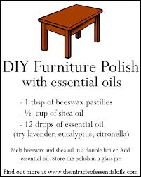 homemade essential oil furniture polish