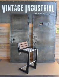 vintage and industrial furniture. custom zinc finish doors and zen chair by vintage industrial furniture in phoenix