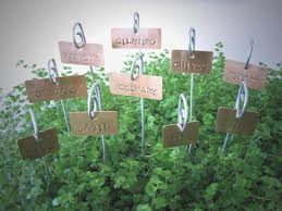 copper plant s garden herb plant markers labels with stakes