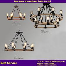 american country style loft retro ball shade hemp rope chandeliers industrial pendant lamp light linghting