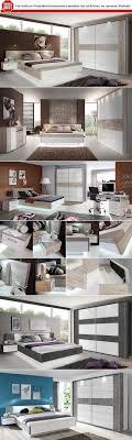 Schlafzimmer Rondino 1 Komplett Set Hochglanz Weiß Sandeiche Dekor