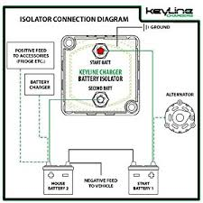 amazon com 140 amp dual battery isolator by keyline chargers (iso dual battery isolator wiring diagram marine mounting instructions; dual battery voltage sensitive isolator user guide