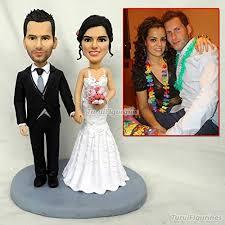 Amazoncom Polymer Clay Figurines Custom Wedding Cake Topper