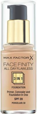 max factor facefinity all day flawless 3in1 liquid foundation 30 porcelain 30 ml