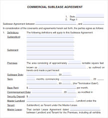 Free Commercial Lease Agreements Forms Free Commercial Lease Agreement Template Download Business Mentor