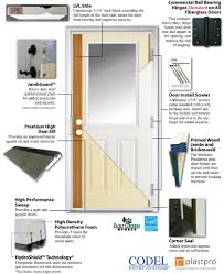 the codel fiberglass door when partnered with our weatherguard composite frame system will not only stand up to the elements but will also provide years