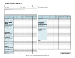 Blank Immunization Chart Free 12 Immunization Schedule Samples Templates In Pdf