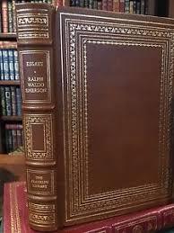 franklin library essays of ralph waldo emerson boston harvard  image is loading franklin library essays of ralph waldo emerson boston