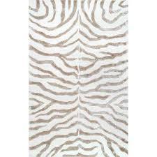 plush zebra grey 6 ft x 9 ft area rug