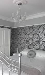 Shabby Chic Bedroom Wallpaper 17 Best Ideas About Grey Damask Wallpaper On Pinterest Infinity