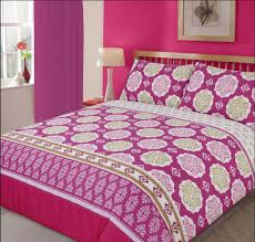 pink colour bedding reversible duvet cover stylish trendy printed design 4774 p jpg