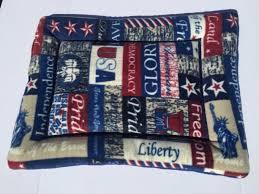 patriotic dog cat bed crate pads small pet mat fleece couch cu