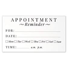 Amazon Com Appointment Reminder Cards Business Card Size 3 5 X 2