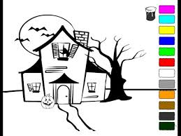 Small Picture Haunted House Coloring Pages For Kids Haunted House Coloring
