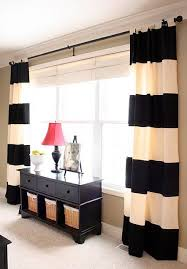 Fine Black And White Curtains How To Make No Sew Inspiration Decorating