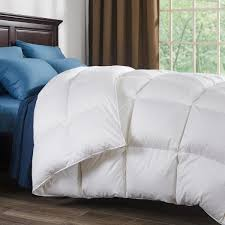 800 fill power white goose down comforter 700 thread count 100 cotton fabric queen in white