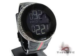 fully iced black diamond digital gucci watch mens gucci stainless fully iced black diamond digital gucci watch mens gucci stainless steel