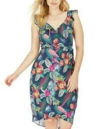 City Chic Size Chart Details About City Chic Jungle Jam Sleeveless True Wrap Dress Plus Size Xl 22