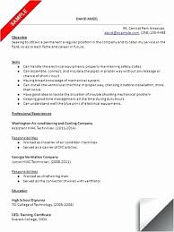 Hvac Resume Template Extraordinary Hvac Resume Samples Pdf Fresh Blank Resume Template Pdf Templates