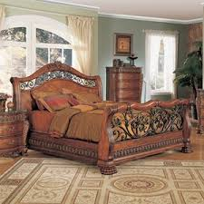 iron bedroom furniture. Yuan Tai FurnitureFinish:cherry, Bed Size:eastern King Nicholas Resin Carvings Sleigh Iron Bedroom Furniture F