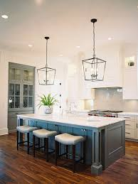 like gray island and addition of glass pantry with pop of color kitchen island lighting darlana lantern um aged iron catalyst architects