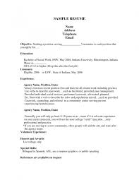 example resume for a job resume for study