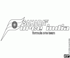 Kleurplaat Sahara Force India F1 Team Logo Kleurplaten