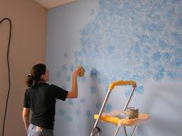 sponge painting everyday adventures friday flashback the blue wall