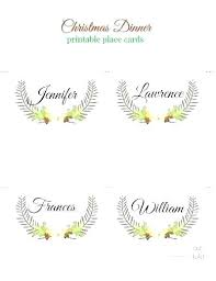 Dinner Name Card Template Table Name Card Template Elegant Place Cards Dinner Free