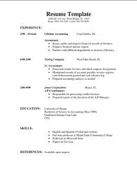 Formal Format Of Resume